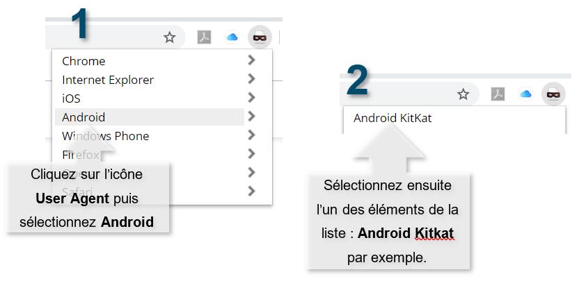 Basculez le User Agent en mode Android