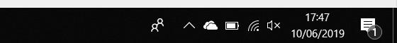 Barre des tâches Windows 10