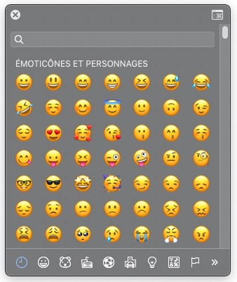 Les émoticônes sur Mac