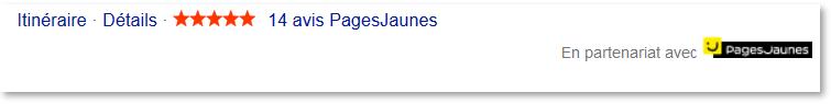 Les avis des Pages Jaunes apparaissent dans les résultats de Bing.