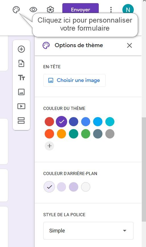 Personnalisez votre formulaire Google Forms