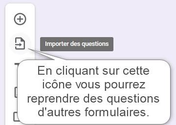 Reprenez les questions d'un autre formulaire Google Forms
