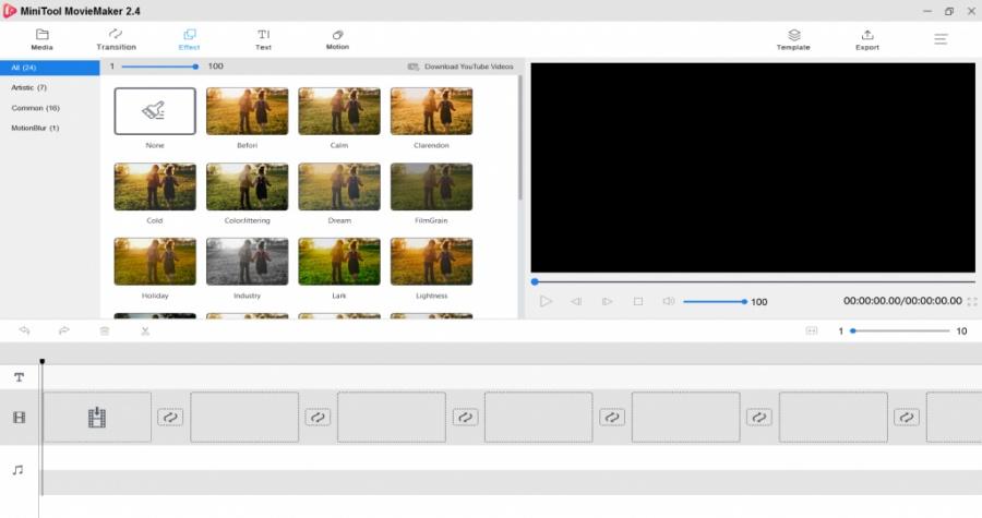 Copie d'écran du logiciel de montage MiniTool MovieMaker
