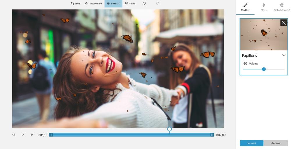 Copie d'écran de l'appli Photos Microsoft