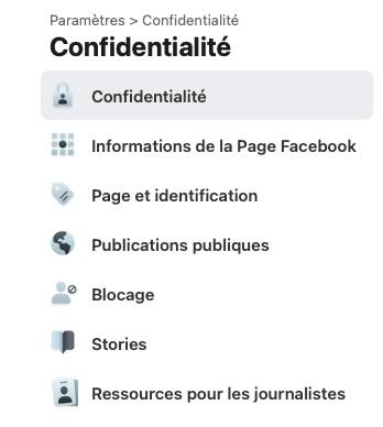 Un renforcement du contrôle des paramètres pour les nouvelles pages Facebook.